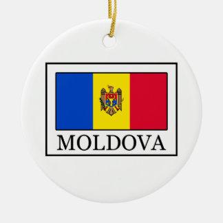 Moldau Rundes Keramik Ornament