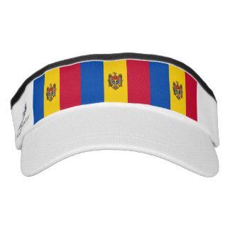 Moldovan Flagge Visor