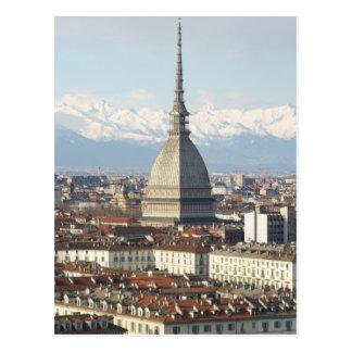 Mole Antonelliana in Turin Italien gesehen vom hil Postkarte