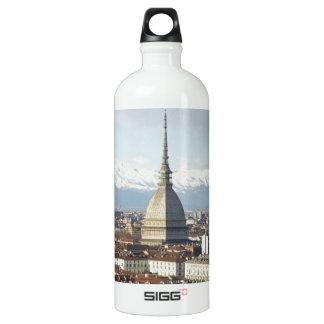 Mole Antonelliana in Turin Italien gesehen vom hil Wasserflasche