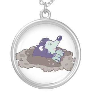 Mole-Loch Versilberte Kette