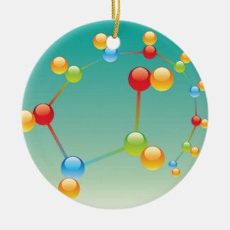 Molekül-Vektor glatt Rundes Keramik Ornament