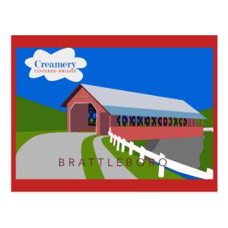 Molkerei-Brücken-Postkarte Postkarte