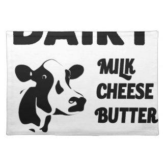Molkerei frisch, Milchkäsebutter Tischset