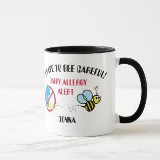Molkereiallergie-Alarm-Hummel-Bienen-Tasse Tasse