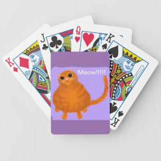 Mollige rote Spielkarten der Tabbykatze