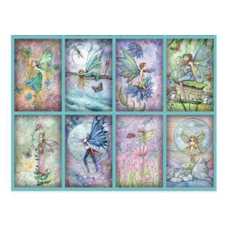 Molly-Harrison-Blumen-Fee-Postkarte Postkarten