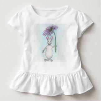 Molly-Mäuserosa und lila gekräuseltes Kleinkind T-shirt
