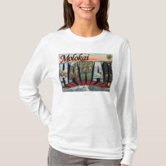Molokai, Hawaii - große Buchstabe-Szenen T-Shirt