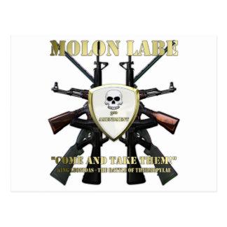 Molon Labe - 2. Änderung Postkarte