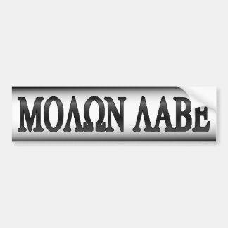Molon Labe 2. Änderungs-Gewehr-Rechte Autoaufkleber