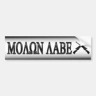 Molon Labe gekreuzte Gewehr-2. Änderung Autoaufkleber