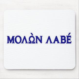 Molon Labe in der griechischen Beschriftung Mauspads