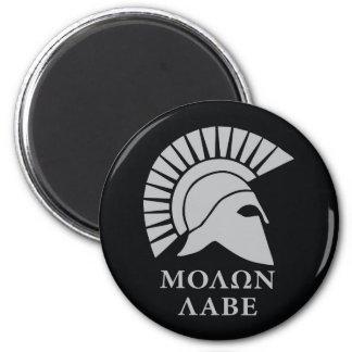 Molon Labe, kommen sie nehmen! Runder Magnet 5,7 Cm