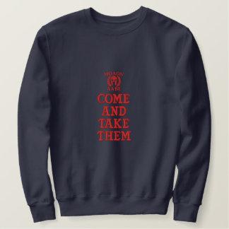 Molon Labe spartanische Besticktes Sweatshirt
