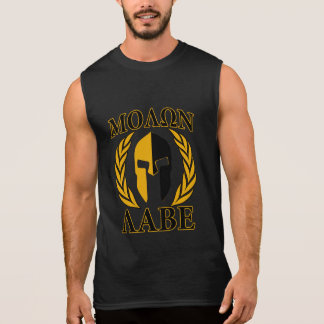 Molon Labe spartanischer Ärmelloses Shirt