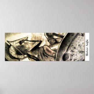 Molon Labe spartanischer Krieger Poster