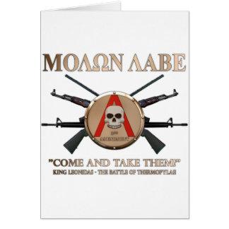 Molon Labe - spartanisches Schild Karte