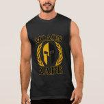 Molon Labe spartanisches Sturzhelm-Lorbeer-Gold Ärmelloses T-Shirt