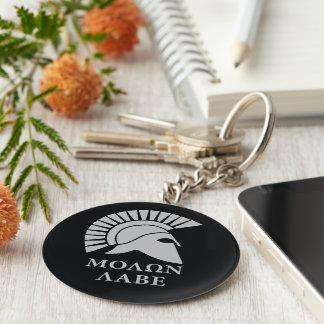 Molon Lave 01 Standard Runder Schlüsselanhänger