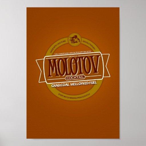 Molotowcocktail-Bier Posterdrucke