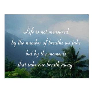 Momente, die unseren Atem wegnehmen Postkarte