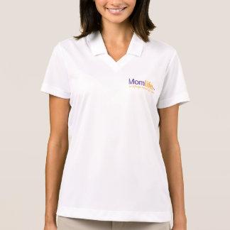 MomLifeTV® 1/2 ZipleistungHoodie Polo Shirt