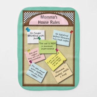 Momma Haus-Regelnburp-Stoff Spucktuch