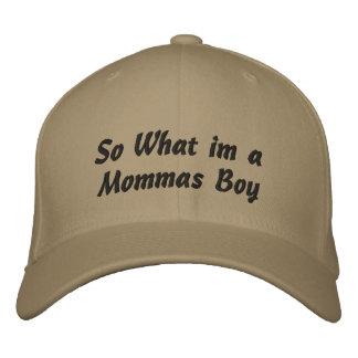 Mommas Junge Bestickte Baseballkappe