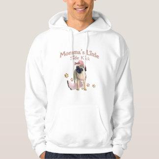Mommas Seitentritt-Mops-Kleid Hoodie