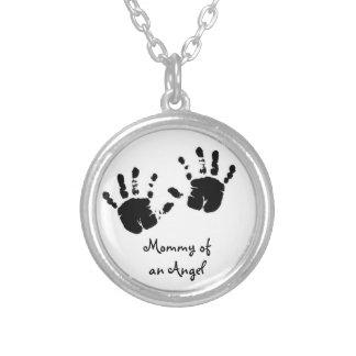Mommy of an Angel Erinnerungskette Halskette Mit Rundem Anhänger