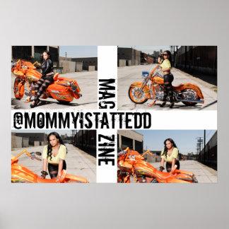 @mommyistattedd Zeitschriften-Plakat Poster