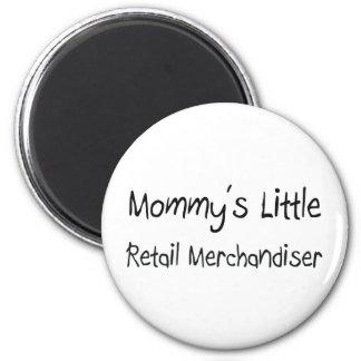 Mommys wenig Kleinverkaufsberater Runder Magnet 5,7 Cm