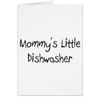 Mommys wenig Spülmaschine Grußkarte