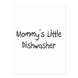 Mommys wenig Spülmaschine Postkarte