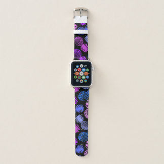 Momona hawaiische tropische Ananas - violettes Apple Watch Armband
