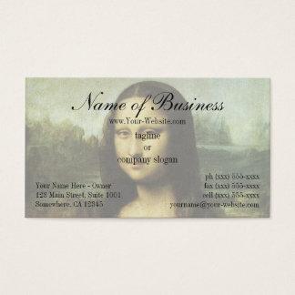 Mona Lisa (alias La Gioconda) durch Leonardo da Visitenkarte