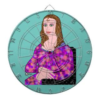 Mona Lisa Cartoon-Bild Dartscheibe