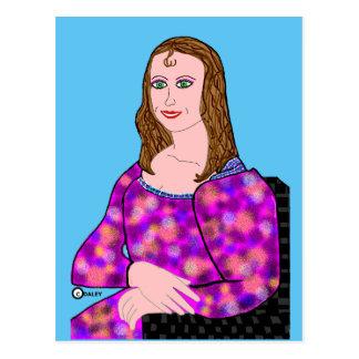 Mona Lisa Cartoon-Bild Postkarte
