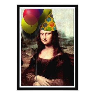 Mona Lisa - das Geburtstags-Mädchen 12,7 X 17,8 Cm Einladungskarte