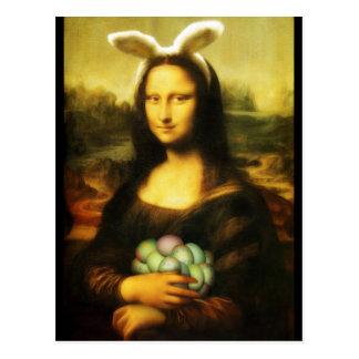 Mona Lisa, der Osterhase Postkarte