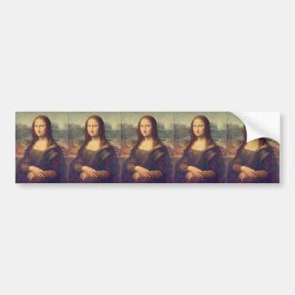 Mona Lisa durch Leonardo da Vinci Autoaufkleber