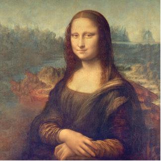 Mona Lisa durch Leonardo da Vinci Fotoskulptur Button