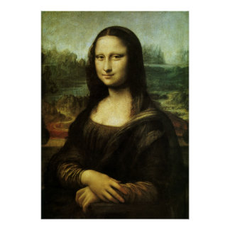 Mona Lisa durch Leonardo da Vinci, Poster