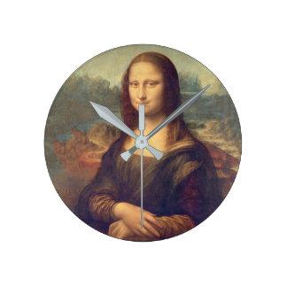 Mona Lisa durch Leonardo da Vinci Runde Wanduhr