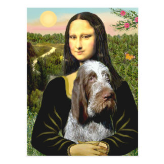 Mona Lisa - Italiener Spinone (Roan 10) Postkarte
