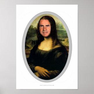 Mona Lisa Karnevals-Ausschnitt-Plakat Poster