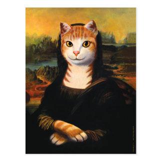 Mona Lisa Katze Postkarte