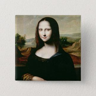 Mona Lisa, Kopie der Malerei von LEONARDO DA Vin Quadratischer Button 5,1 Cm
