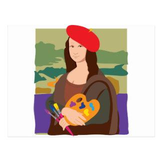 Mona Lisa Künstler Postkarte